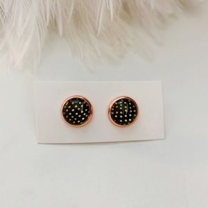 Poka dot earrings